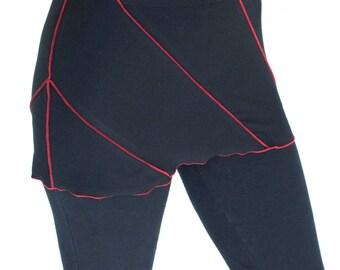 Dance and Yoga Coverup Mini Skirt -  VORTEX MINI - exposed stitching yoga skirt, festival clothing, elven fairy