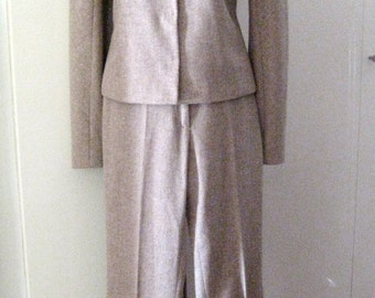 vintage Lawrence Steele suit # creamy wool # unworn # size 42 Italy / 36 EU/ SMALL