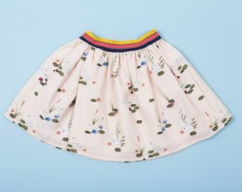 Girl's Swan Print Skirt