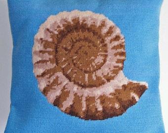 Ammonite tapestry kit / needlepoint kit