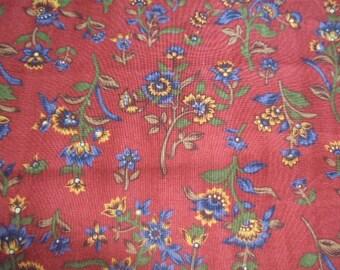 Karen Jarrar Floral on red