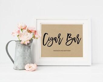 Wedding Sign Template | Cigar Bar Sign | Wedding Sign | Printable Wedding Sign | 5x7 & 8x10 | EDN 5466