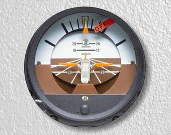 Attitude Indicator Aviation Round Single Toggle Light Switch Plate Cover