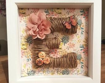 Personalised Framed Gift, Birthday Present, New Baby Present, Nursery Decor, Home Decor, Wedding Gift, Christmas Present, Teacher Gift.