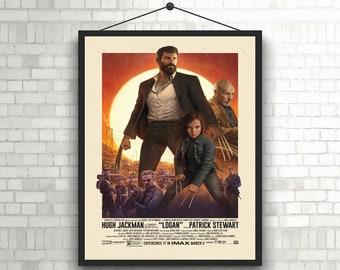 Logan X-Men Wolverine  Old man Logan movie poster