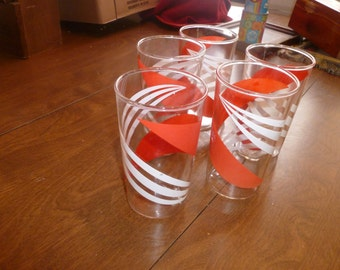 Vintage Stripped Drinking Glasses
