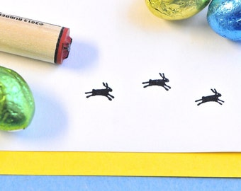 Leaping Bunny Rubber Stamp