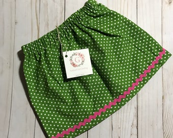 Girl's Green Corduroy Skirt - All Sizes