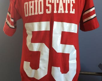 Vintage 80's Champion Oregon State Beavers #32 football style t-shirt rTt5DqQy