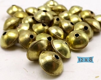 Metal Saucer Beads Solid Brass--10 Pcs.| 26-128BR-10