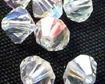 ON SALE 21 SWAROVSKI  8mm Bicones  in  Crystal Ab