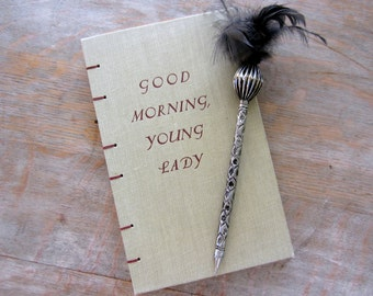 Journal, 1953 Upcycled, Good Morning Young Lady, Ready to Ship