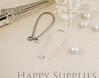 Nickel Free 50pcs 33mm Long Brass Hoop Earrings (HE146/XE161/GE146)