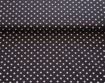Amelie - dots white on black background