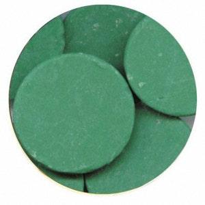 Dark Green 7 oz Merckens Confectionery Coating - Chocolate Melts 7 ounce bag Disks