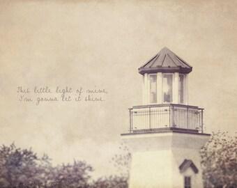 Purple Lighthouse, Lavender Decor, Purple Decor, Seaside Decor, Shabby Chic Art, Lighthouse Photo,Home Art Decor, Typography Photo