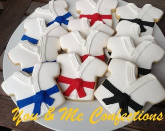 Karate/Taekwondo Hand Decorated Sugar Cookies - 1 dozen