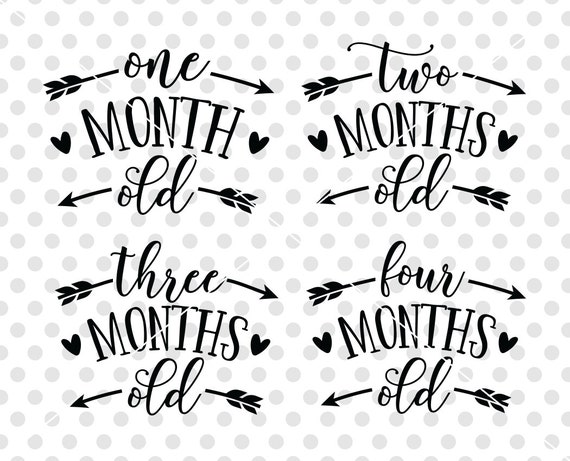 Age Months Baby Svg Dxf Cutting File Baby Onesie Svg Dxf Cut