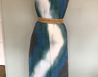 Vintage tie dye silk dress