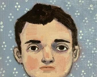 Oil painting portrait - Theodore - Original art