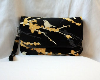 Diaper Clutch with Changing Pad - Black, Yellow and Gray - Joel Dewberry Aviary