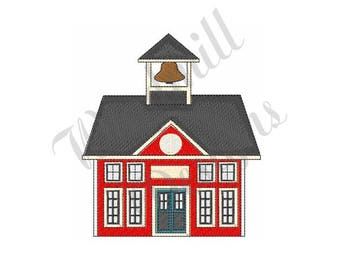 Red School House - Machine Embroidery Design