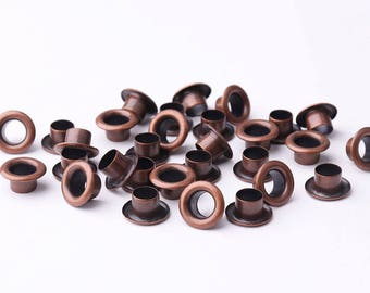 100pcs Eyelets Grommets 9*4.5*4.5mm(OD * ID * Height) Brass Grommets Eyelets Metal eyelets For Bead Cores Clothes Leathercraft