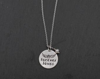 Pet Loss Necklace; Sterling Hand Stamped Necklace