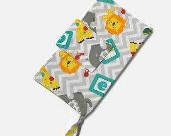 Nappy Diaper Clutch - Jungle Cuties ABC