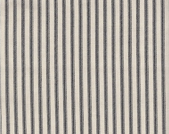 Black ticking stripe chair pad, seat cushion, other colors