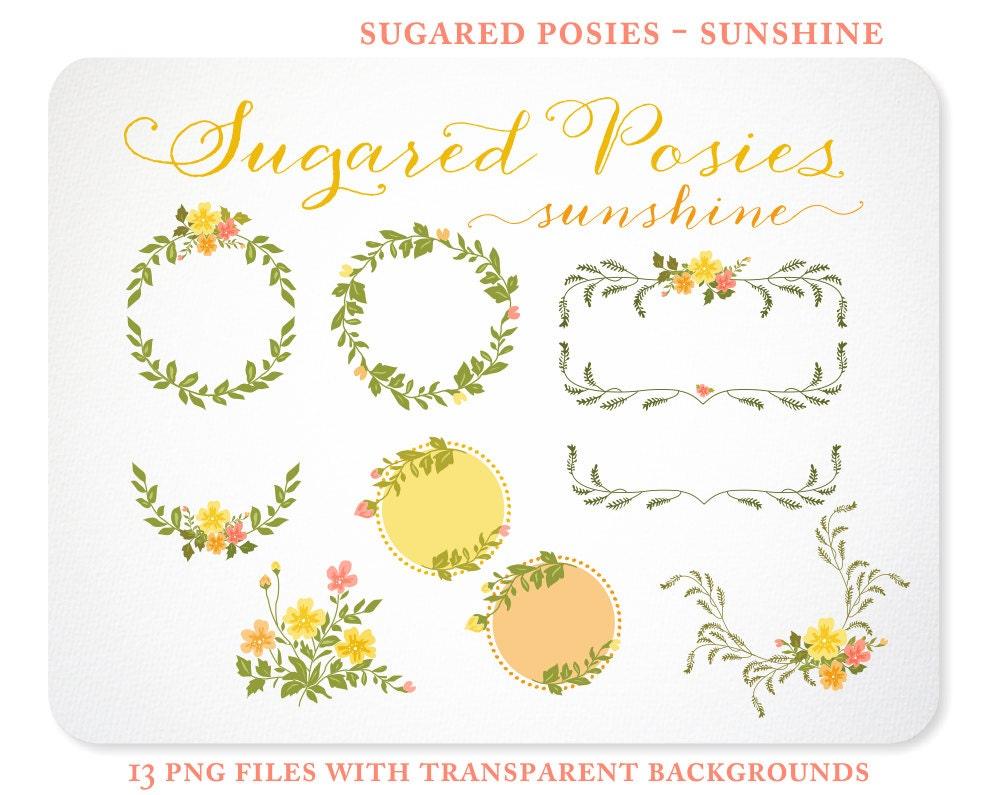 Ramilletes de color naranjas y amarillos Laurel coronas y