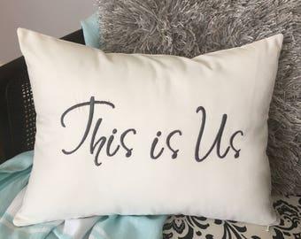 This is Us Pillow, Gift pillow, Wedding Pillow, Couples Pillow, Newlywed pillow, Farmhouse pillow, Anniversary pillow, Family pillow