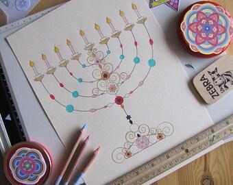Hanukkah Annual Membership Plan for Individuals, Families, and Organizations-Jewish Soul Art-Shabbat and Holidays-Select 36+ FREE Gift