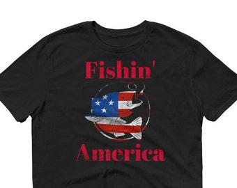 4th July Bass Fishing America Short-Sleeve T-Shirt