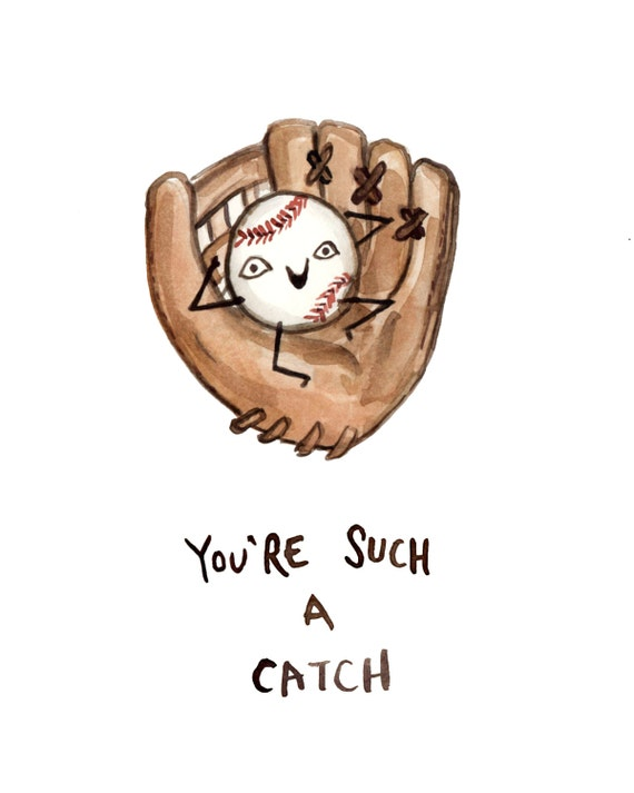 Funny Card Baseball Glove You\'re Such a Catch