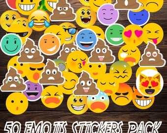 Emoticons: Boom Boom Boom 50 sticker Vynil pack 8cm x 8cm-emojis Boom Boom Boom Pack 50 sticker 8cm x 8 cm