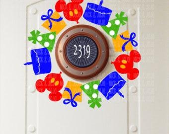 Mickey Birthday Wreath - Disney Cruise Magnet - Door Magnet