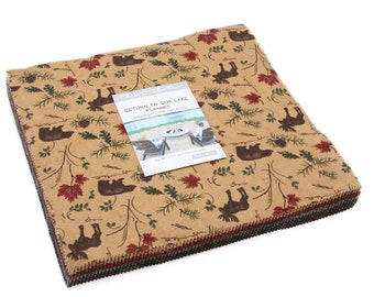 "Return to Cub Lake Flannel Layer Cake (42 - 10"" x 10"" Squares) designed by Holly Taylor for Moda Fabrics, Flannel"