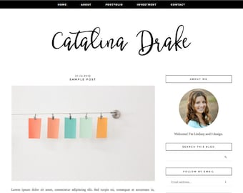 """Blogger Template, Blog Template, Mobile Responsive - """"Catalina 