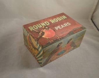 Spring Robin Redbreast Wooden Box