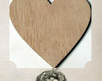 Heart Wood Cut Out - Laser Cut