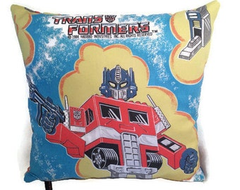 VINTAGE TRANSFORMERS PILLOW