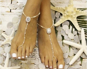 Barefoot Sandals,CRYSTAL, jewels, beaded, feet, foot jewelry, wedding, footless sandals, sandles, beach, destination, bridesmaids, bridal
