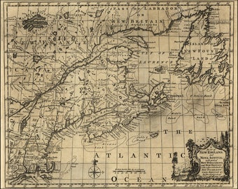 Poster, Many Sizes Available; Map Of New England, And Nova Scotia 1758