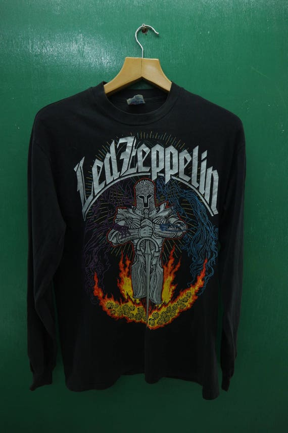 Band Vintage Size Band Led Stitch Classic Big Metal Heavy 1992 Punk Rock Rock Shirt Logo Tour Long M Single Rock Sleeve Zeppelin RfqXRwTr