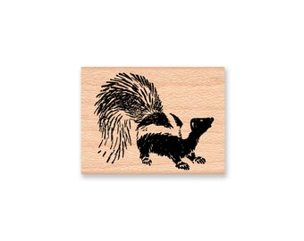 SKUNK-Wood Mounted Rubber Stamp (MCRS 27-26)