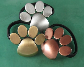 Paw Print Ponytail Holder- Hair Accessories- Ties and Elastics- Gift for pet owners