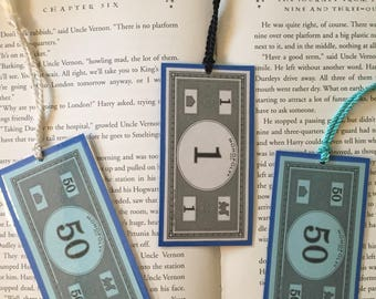 Monopoly Money Bookmarks or Ornaments