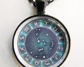 ORION Necklace -- Constellation Orion, Zodiac signs, Stars for him or her, Astrology art