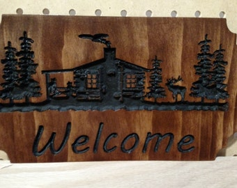 Small Cabin Welcome Sign
